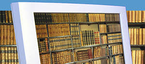 Böcker i bildskärm